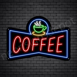 Coffee Neon Sign Coffee Small Cup Black 24x17