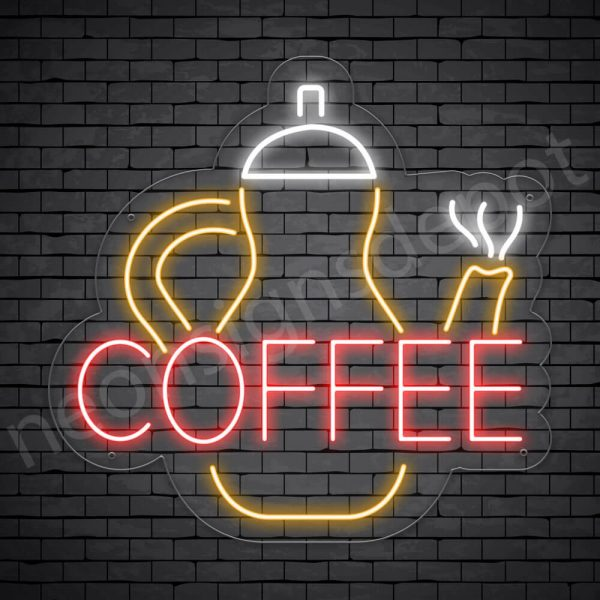 Coffee Neon Sign Kittle Coffee Transparent 24x23