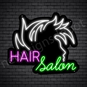 Hair Salon Neon Sign Hair Salon Guy Black 24x21