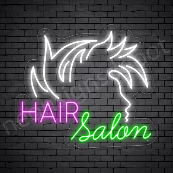 Hair Salon Neon Sign Hair Salon Guy Transparent 24x21