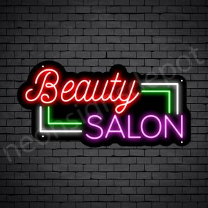 Hair Salon Neon Sign Beauty Salon Black 24x12