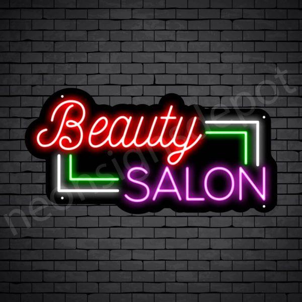 Hair Salon Neon Sign Beauty Salon Black 24x12