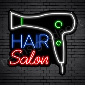 Hair Salon Neon Sign Blower Hair Salon Black 24x22