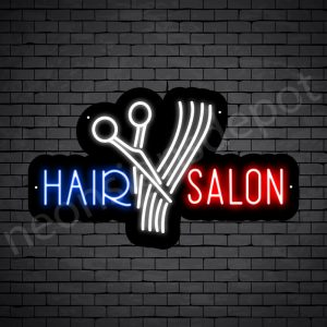 Hair Salon Neon Sign Cut Hair Salon Black 24x15