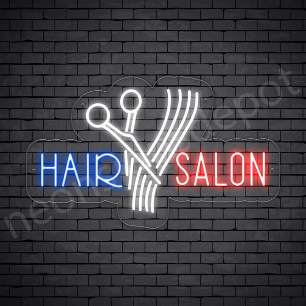 Hair Salon Neon Sign Cut Hair Salon Transparent 24x15