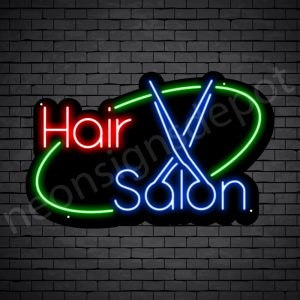 Hair Salon Neon Sign Hair Salon Black 30x19