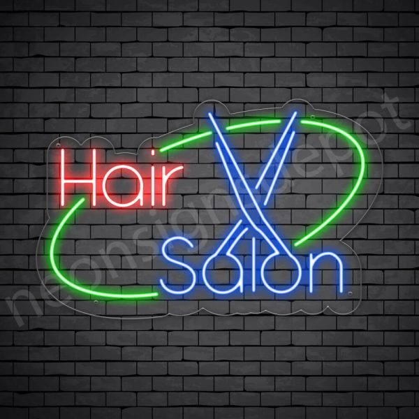 Hair Salon Neon Sign Hair Salon Transparent 30 x19