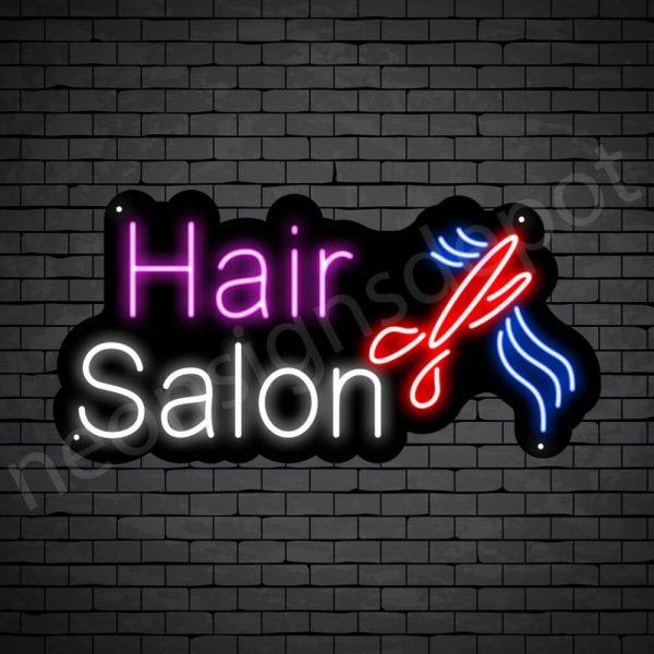 Hair Salon Neon Sign Hair Salon Cut Black 24x12