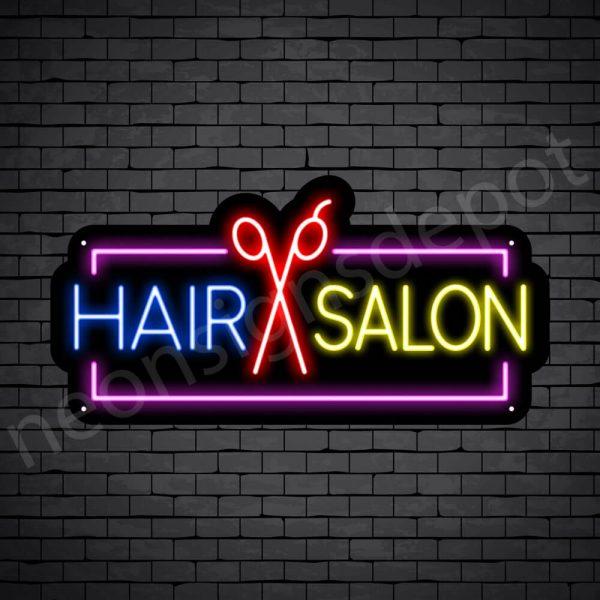 Hair Salon Neon Sign Hair Salon Scissor 24x12