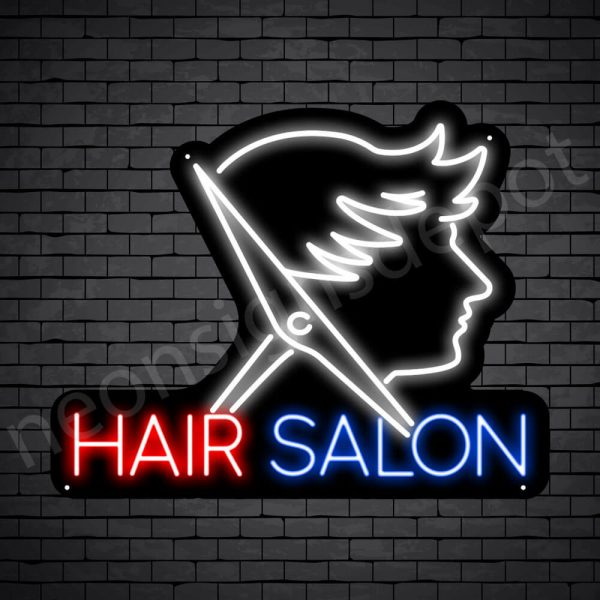 Hair Salon Neon Sign Men Hair Salon Black - 24x19