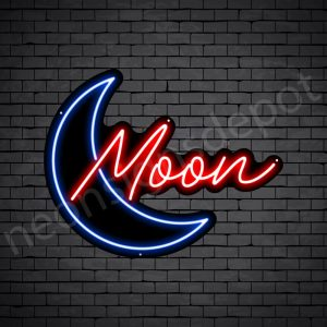 Blue Moon Neon Sign - black