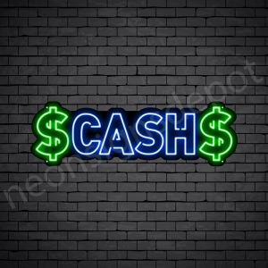 Cash Neon Sign - black