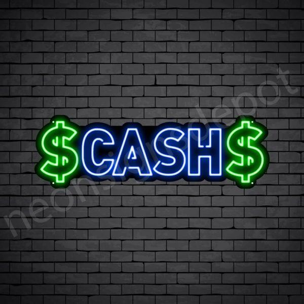 Cash Neon Sign - black