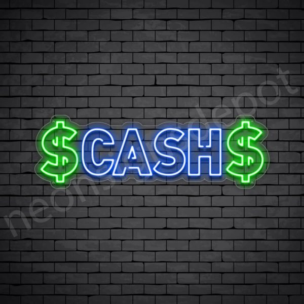 Cash Neon Sign - transparent