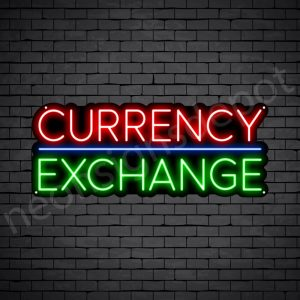 Currency Exchange Neon Sign - black