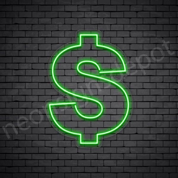 Dollar Neon Sign - transparent