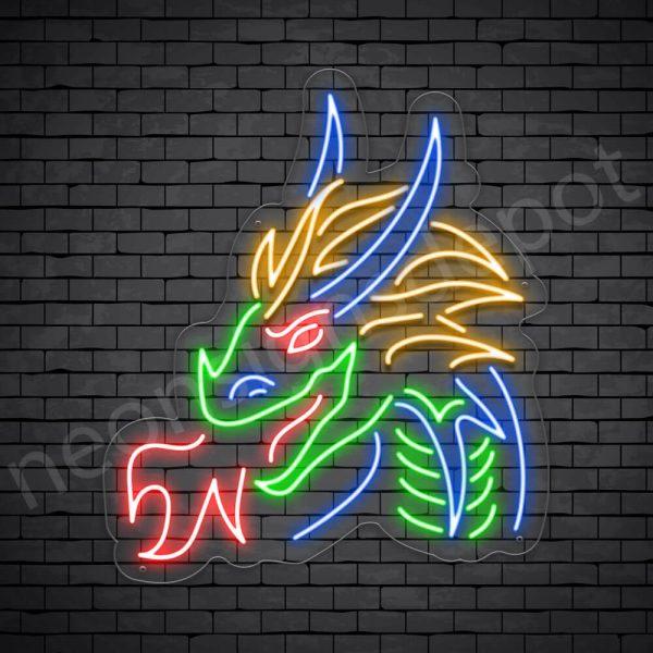 Dragon Neon Sign Dark King Dragon Transparent