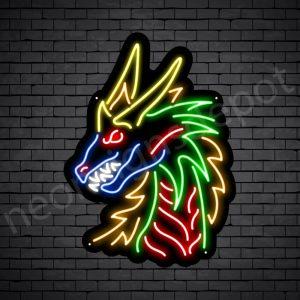 Dragon Neon Sign Dark Savage Dragon Black 18x24