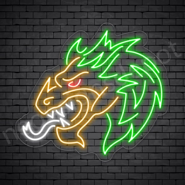 Genie Dragon Neon Sign Transparent
