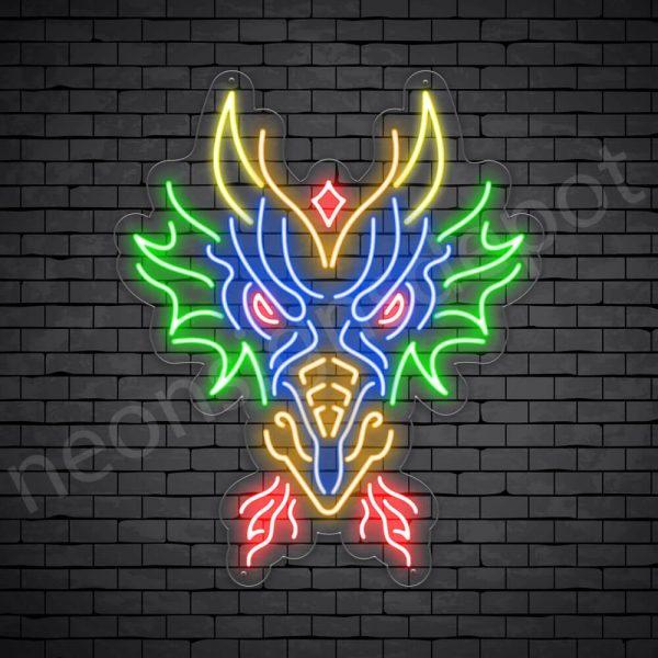 Dragon Neon Sign Head of Dragon
