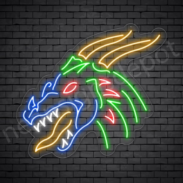 Dragon Neon Sign Soccer Dragon Transparent 24x22