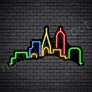Generic Small City Neon Sign Black