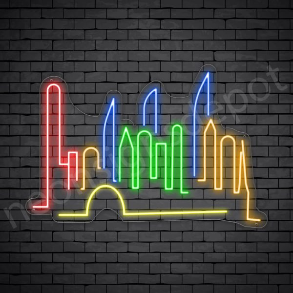 Guangzhou City Neon Sign Transparent