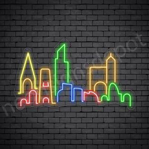 City Skyline Neon Sign