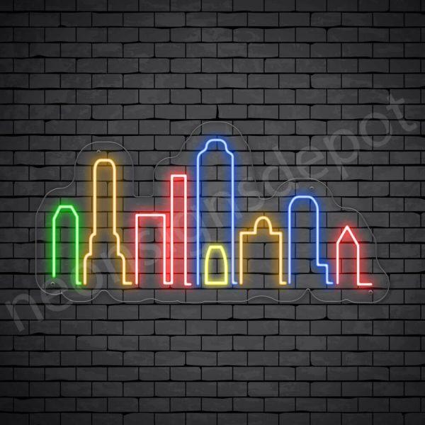 Jersey City Neon Sign Transparent