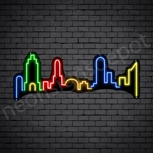 London City Neon Sign Black