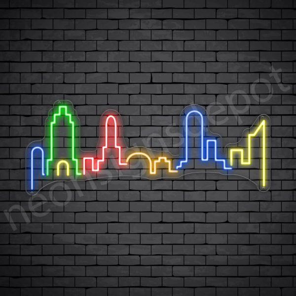 London City Neon Sign Transparent