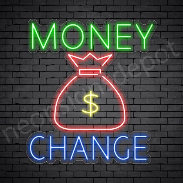 Money Change Dollar Neon Sign - transparent