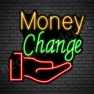 Money Change Express Neon Sign - Black