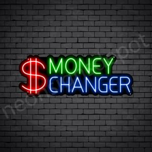 Money Changer Neon Sign - black