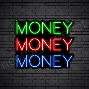 Money Money Money Neon Sign - black