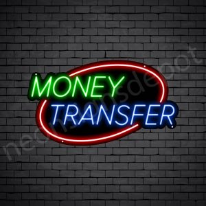 Money Transfer Neon Sign - black