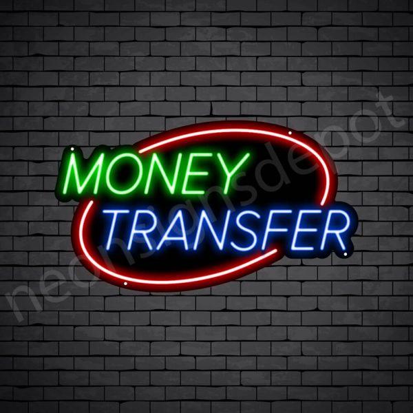 Money Transfer Neon Sign - black