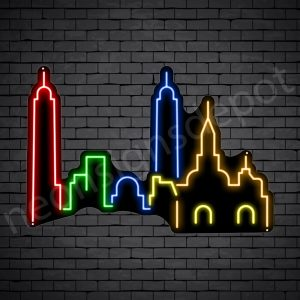 Nashville City Neon Sign Black