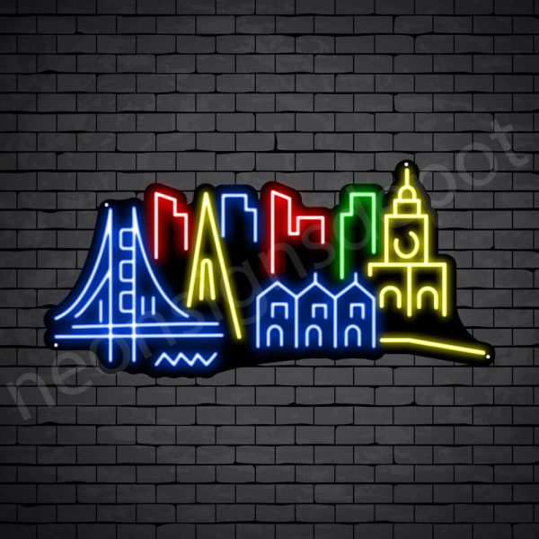 New York City Neon Sign Black