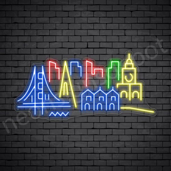 New York City Neon Sign Transparent