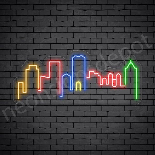 Osaka Japan City Neon Sign - transparent