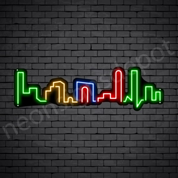 Small Beautiful City Neon Sign - black