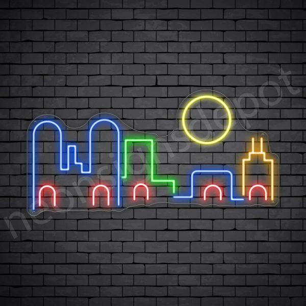 Unmask City Neon Sign Transparent