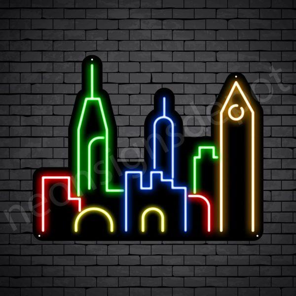 Uptown City Neon Sign Black