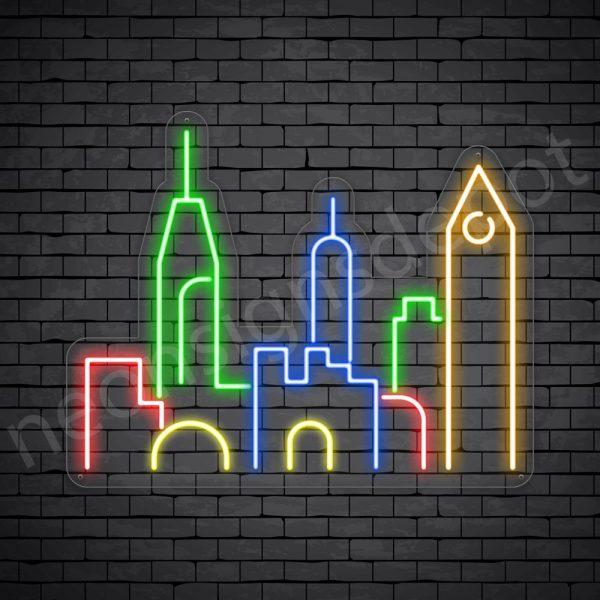 Uptown City Neon Sign Transparent