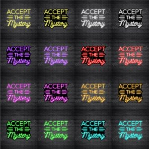 Accept The Mystery Neon Sign