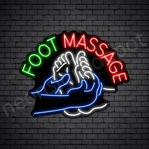 Foot Massage Curve Neon Sign - Black