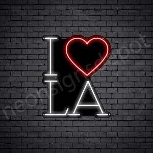 I Love LA Neon Sign - Black