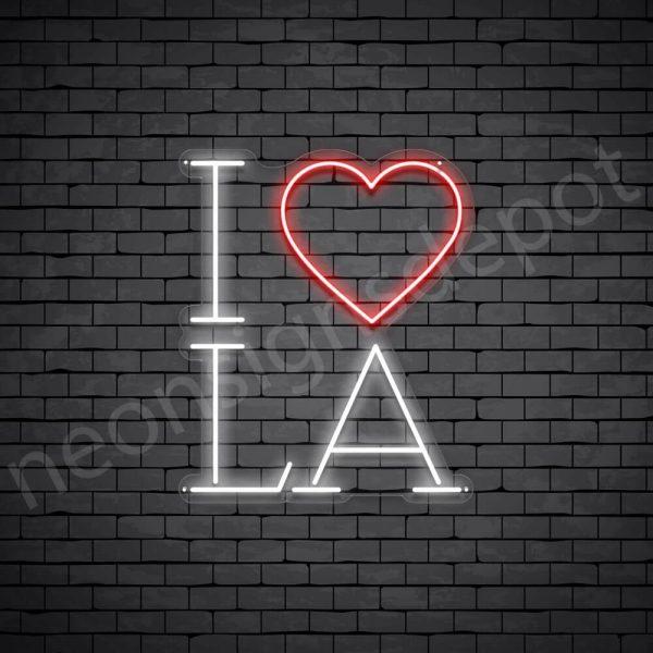 I Love LA Neon Sign - Transparent