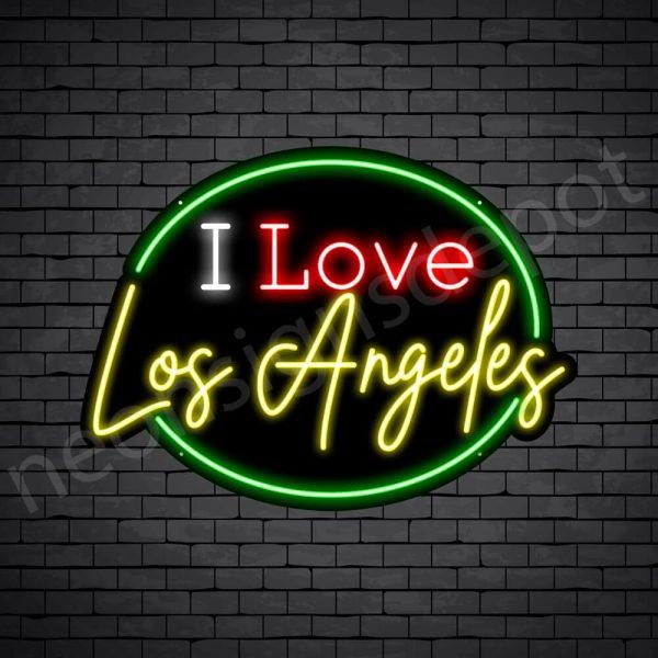 I Love Los Angeles Neon Sign - Black